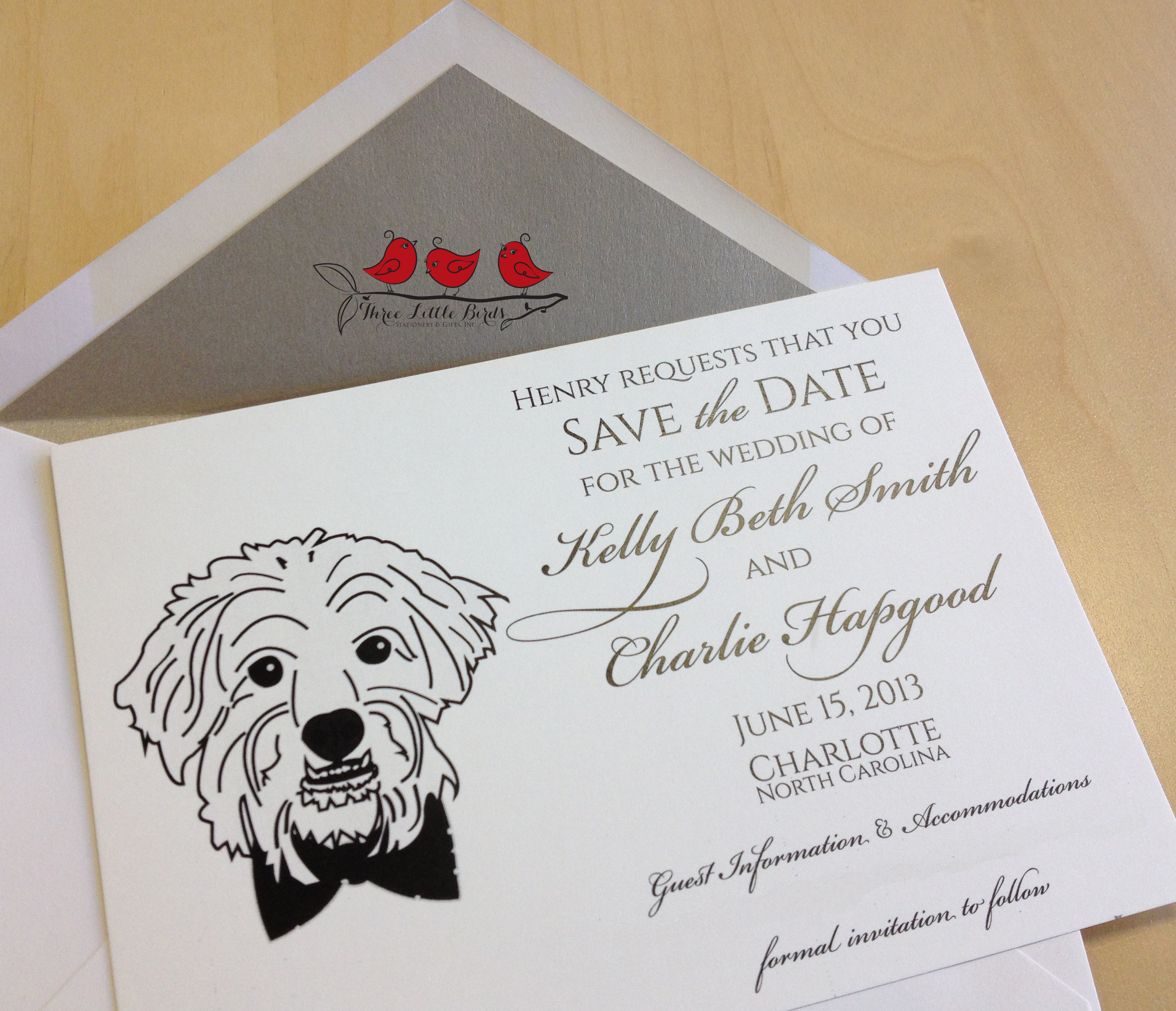 Three Little Birds - Save the Date - Dog - Henry
